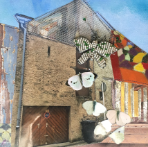 3D collage Butterfly2